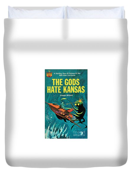 Duvet Cover featuring the painting The Gods Hate Kansas by Jack Thurston