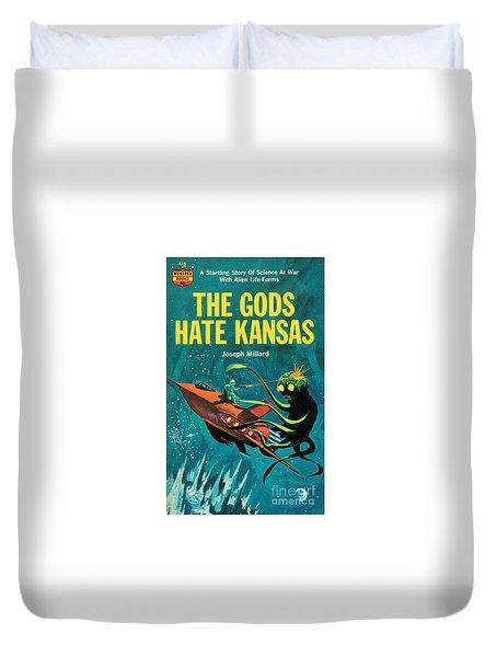 The Gods Hate Kansas Duvet Cover by Jack Thurston