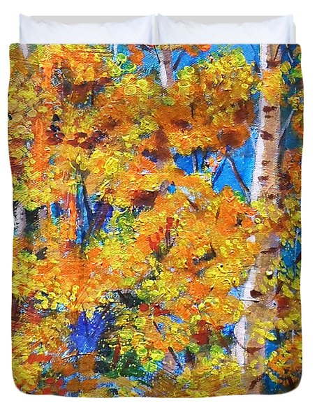 The Golden Autumn Duvet Cover