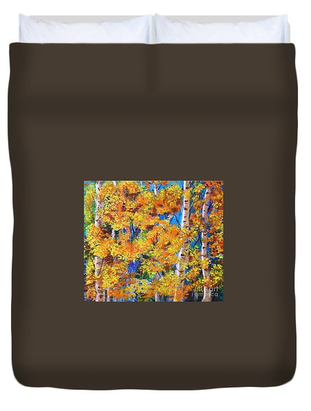 The Golden Autumn Duvet Cover