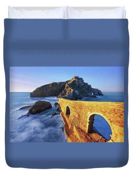 The Golden Bridge Duvet Cover