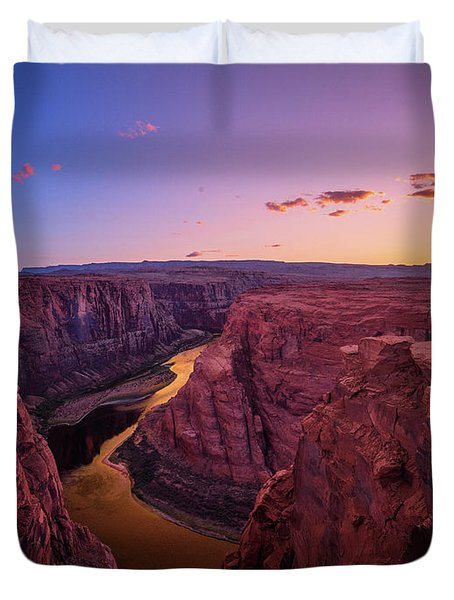 Duvet Cover featuring the photograph The Golden Canyon by Edgars Erglis
