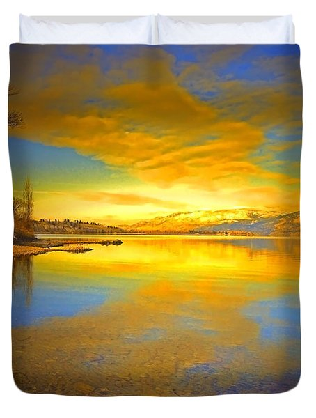 The Golden Clouds Of Winter Duvet Cover