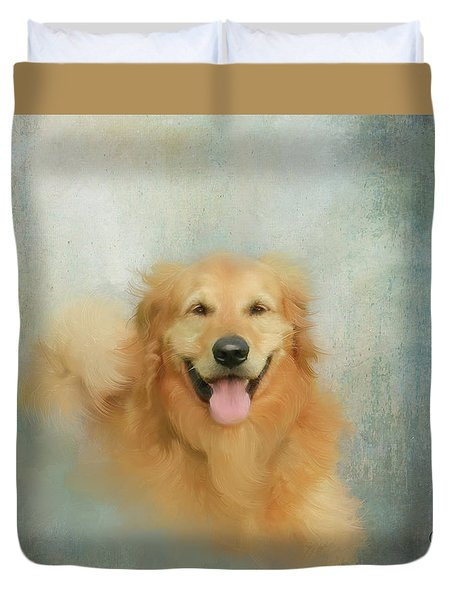 The Golden Duvet Cover