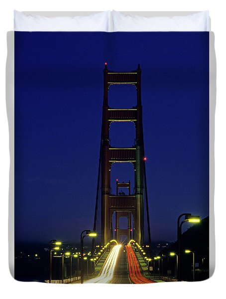 The Golden Gate Bridge Twilight Duvet Cover