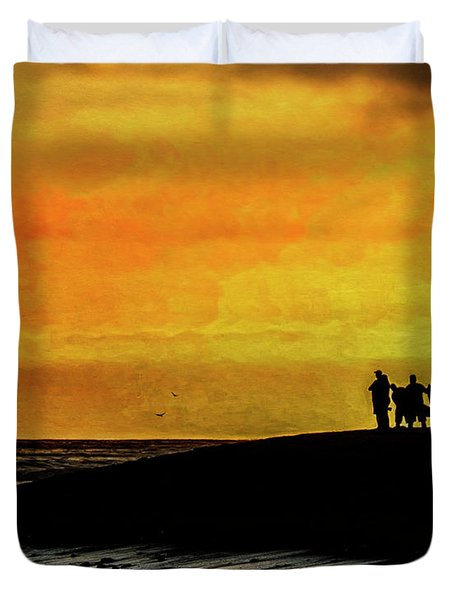 The Golden Hour II Duvet Cover