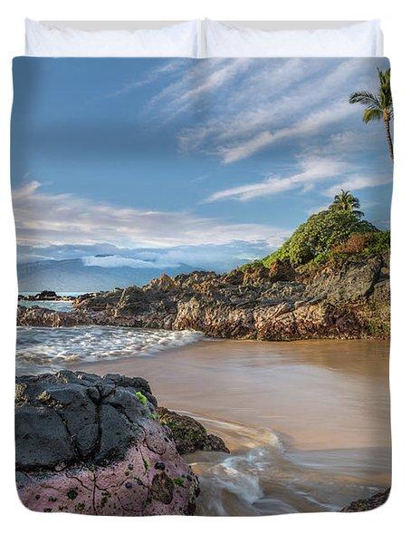 The Golden Hour In Paradise Duvet Cover