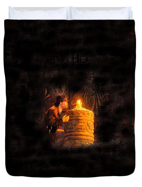 The Golden Idol Duvet Cover by David Lee Thompson