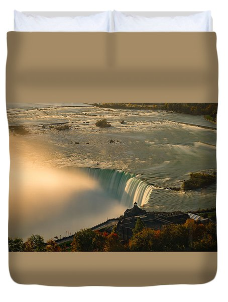 The Golden Mist Of Niagara Duvet Cover