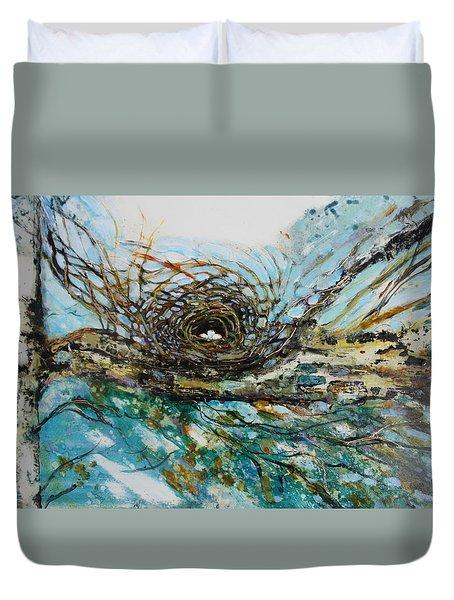 The Golden Nest Duvet Cover