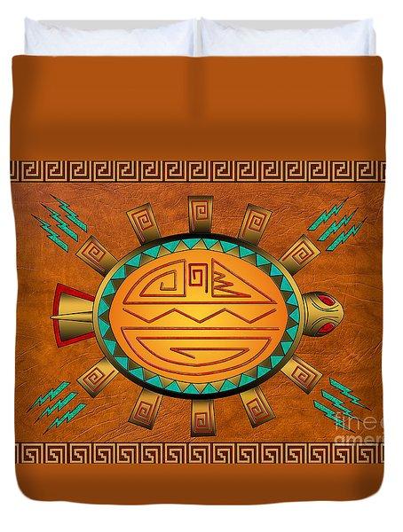 The Golden Spirit Turtle Duvet Cover