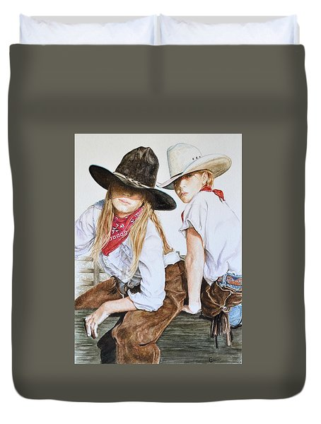 The Good And The Bad # 2 Duvet Cover