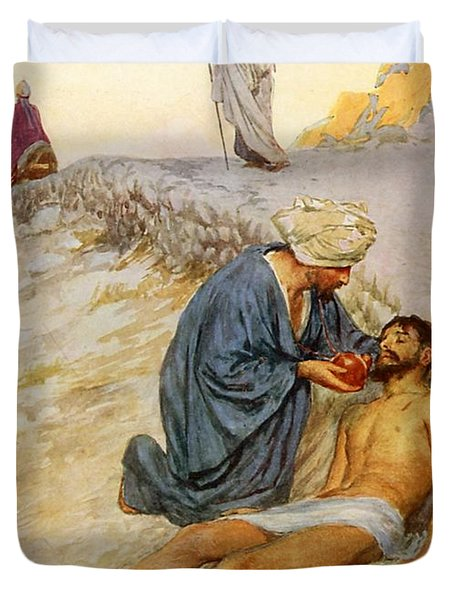 The Good Samaritan Duvet Cover by William Henry Margetson