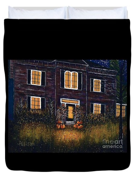 The Good Witch Grey House Duvet Cover