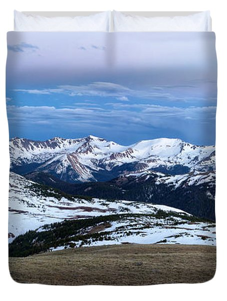 The Gore Range At Sunrise - Rocky Mountain National Park Duvet Cover