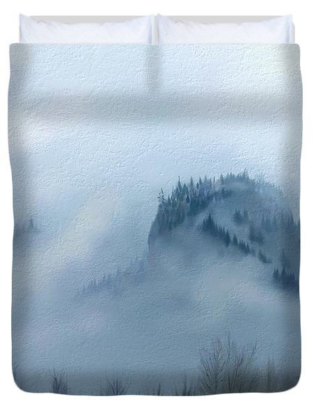 The Gorge In The Fog Duvet Cover