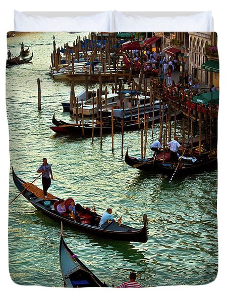 Duvet Cover featuring the photograph The Grand Canal Venice by Harry Spitz