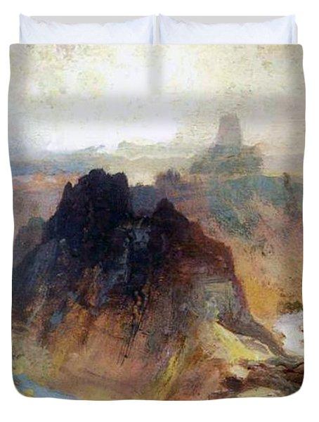 The Grand Canyo Duvet Cover by Thomas Moran