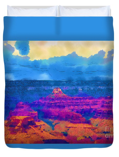 The Grand Canyon Alive In Color Duvet Cover