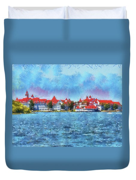 The Grand Floridian Resort Wdw 03 Photo Art Mp Duvet Cover