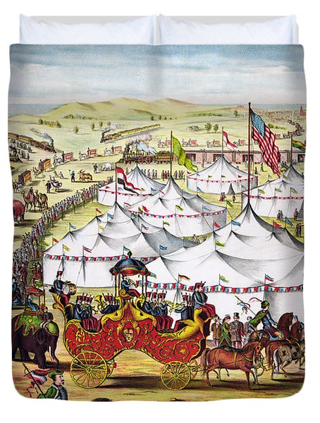 The Grand Layout, Chromolithograph 1874 Duvet Cover