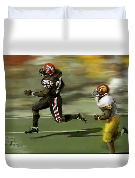 Duvet Cover featuring the photograph The Grand Marshall by Don Olea