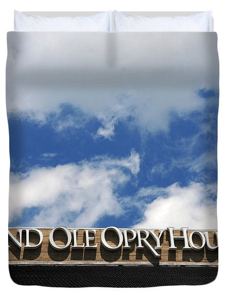 The Grand Ole Opry Nashville Tn Duvet Cover by Susanne Van Hulst