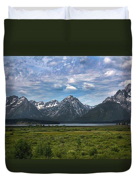 The Grand Tetons Duvet Cover