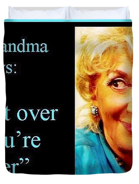 The Grandma Over And Under Duvet Cover