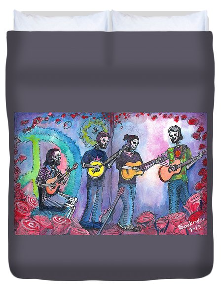 The Grass Is Dead Duvet Cover