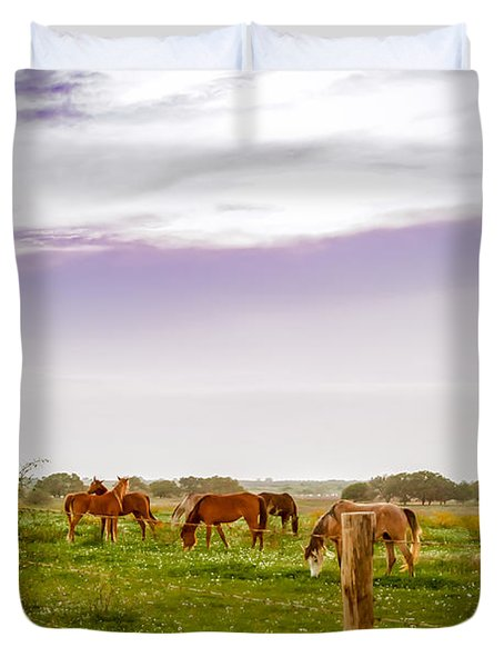 Duvet Cover featuring the photograph The Grass Was Greener by Melinda Ledsome