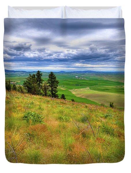 The Grasses Of Kamiak Butte Duvet Cover