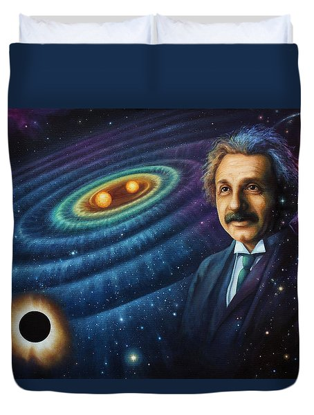 The Gravity Of Thought Duvet Cover