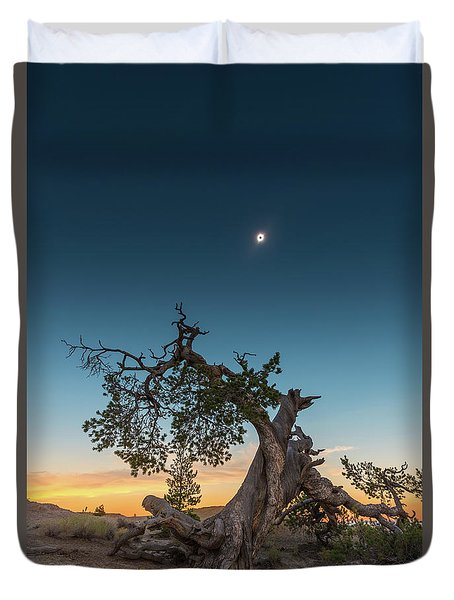 The Great American Eclipse On August 21 2017 Duvet Cover