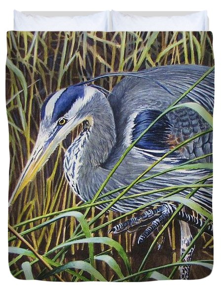The Great Blue Heron Duvet Cover