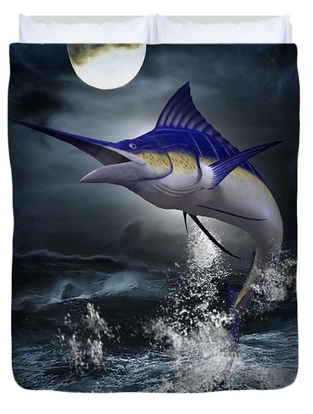 The Great Blue Marlin Duvet Cover