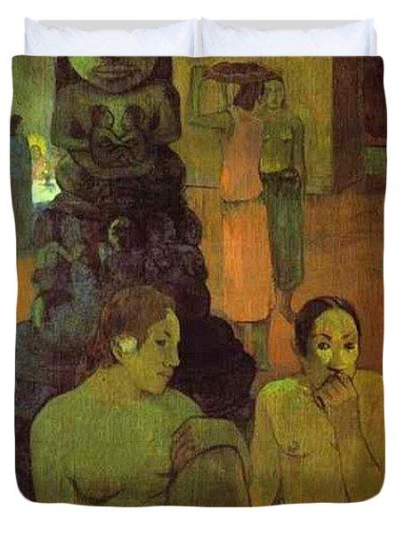 The Great Buddha Paul Gauguin Duvet Cover