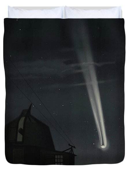 The Great Comet Of 1881, Antique Illustration Duvet Cover