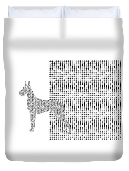 The Great Dane Black And White Duvet Cover