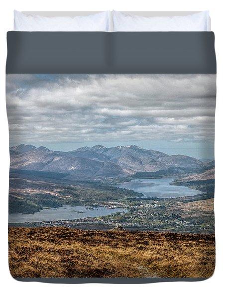 The Great Glen Scotland Duvet Cover by Lynn Bolt