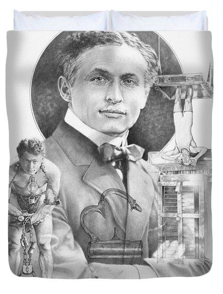 The Great Houdini Duvet Cover by Steven Paul Carlson