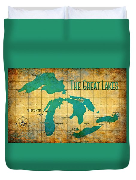 The Great Lakes Duvet Cover
