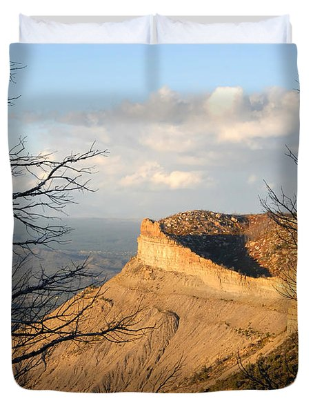 The Great Mesa Duvet Cover by David Lee Thompson