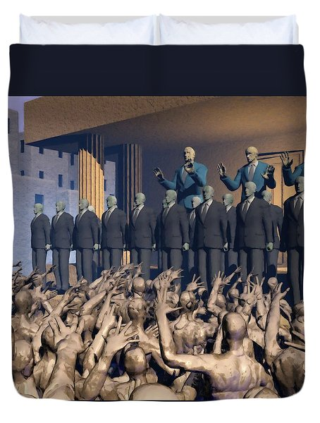 The Great Mud Revolt Duvet Cover