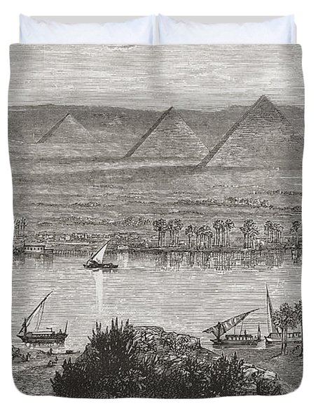 The Great Pyramids Of Giza, Egypt From Duvet Cover
