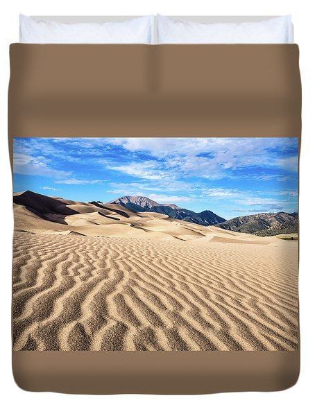 The Great Sand Dunes Of Colorado Duvet Cover