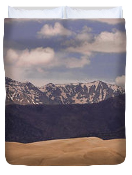 The Great Sand Dunes Panorama 1 Duvet Cover by James BO  Insogna
