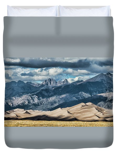 The Great Sand Dunes Panorama Duvet Cover