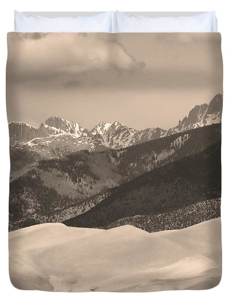 The Great Sand Dunes Sepia Print 45 Duvet Cover by James BO  Insogna