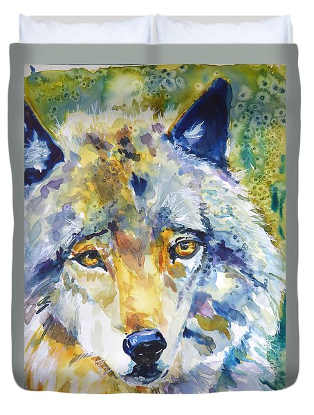 The Great Technicolor Wolf Duvet Cover by P Maure Bausch